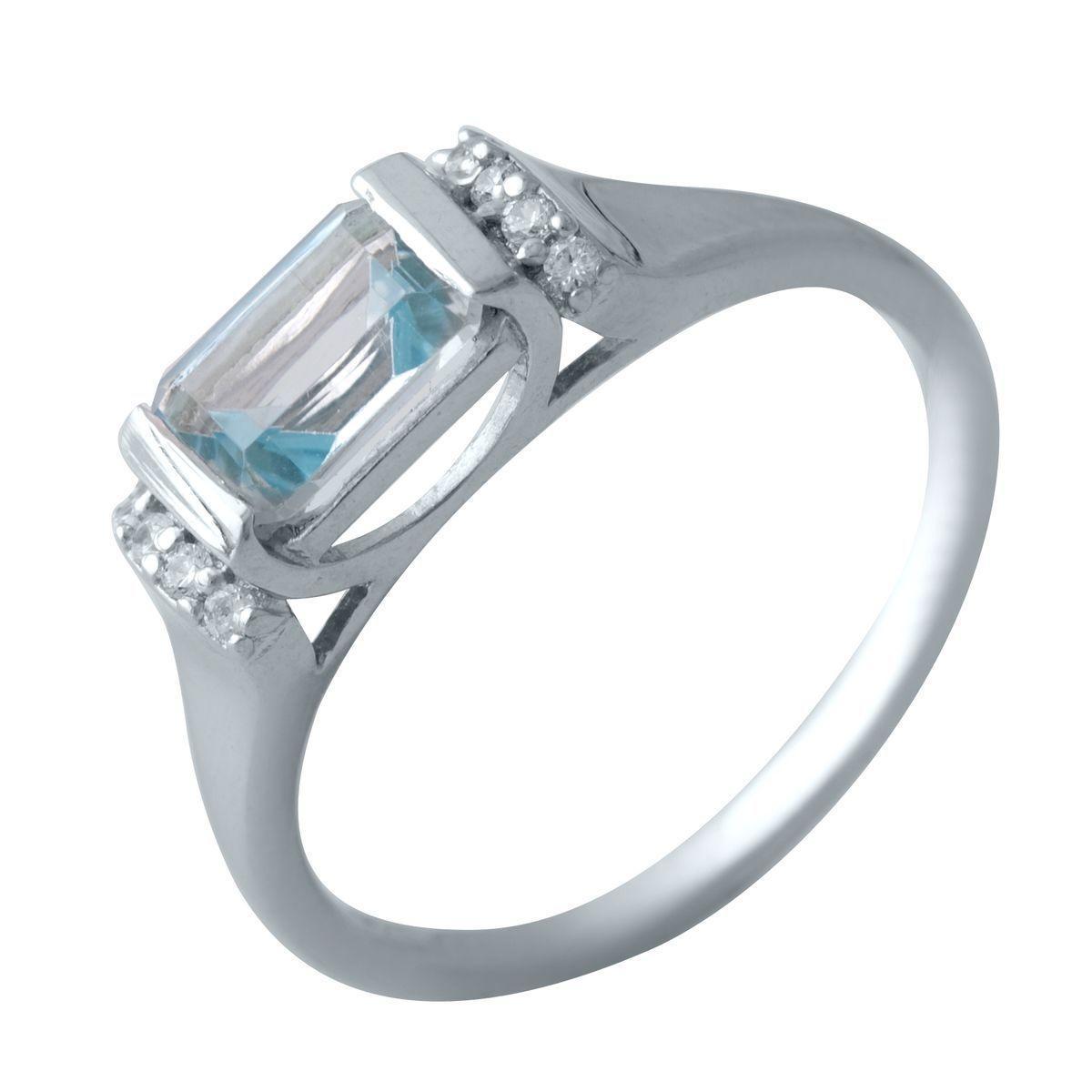 Серебряное кольцо DreamJewelry с натуральным топазом 3.347ct (2018995) 18 размер