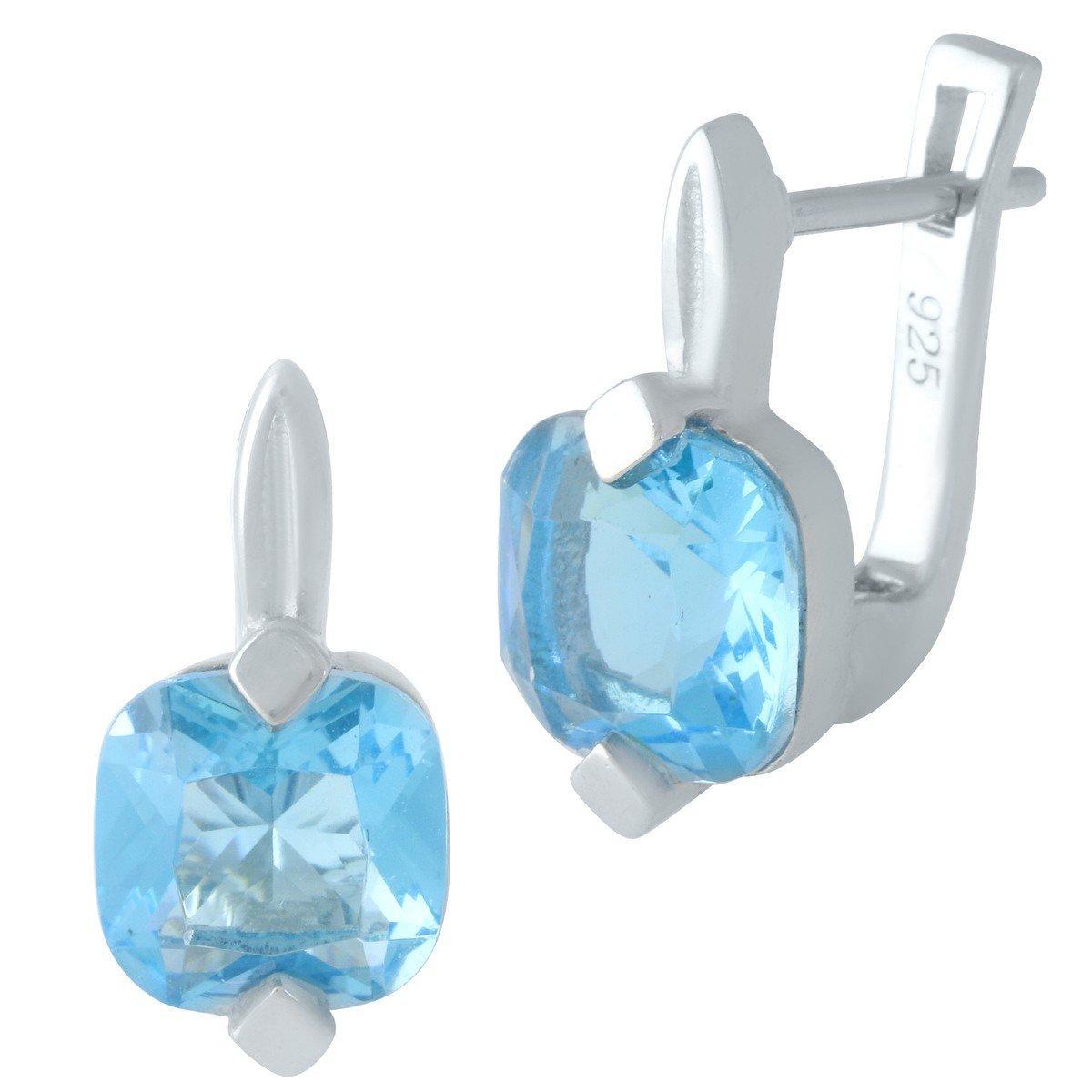 Серебряные серьги DreamJewelry с аквамарином nano (1963661)
