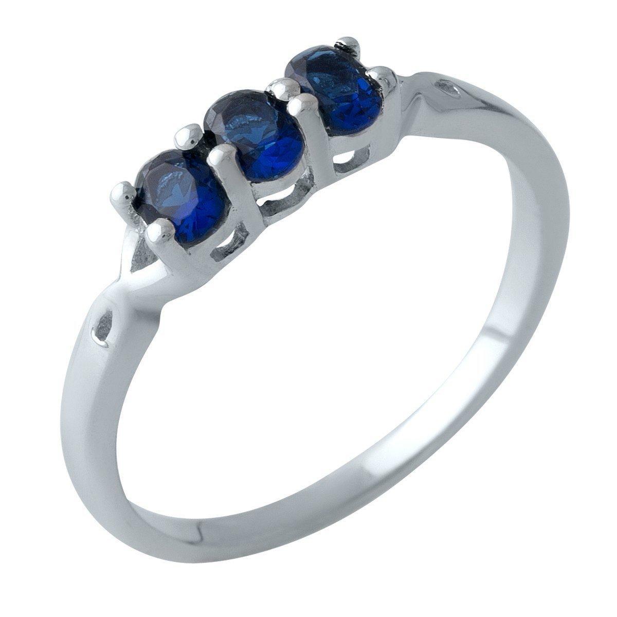 Серебряное кольцо DreamJewelry с сапфиром nano (2001010) 18 размер