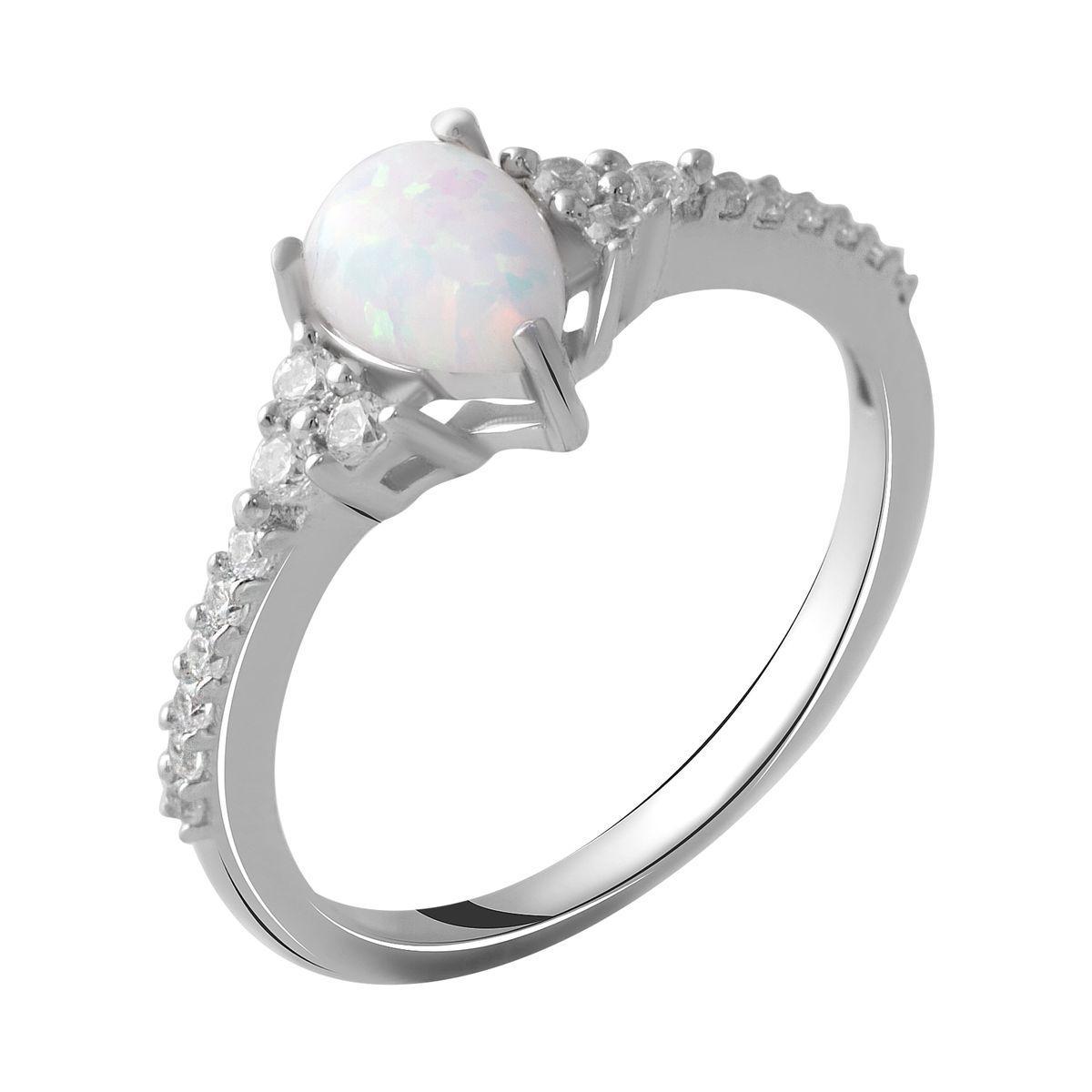 Серебряное кольцо DreamJewelry с опалом 0.89ct (2050001) 17.5 размер