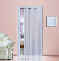 Двері гармошка Ясен Folding міжкімнатні, глухі, складні, розсувні, пластикові, приховані