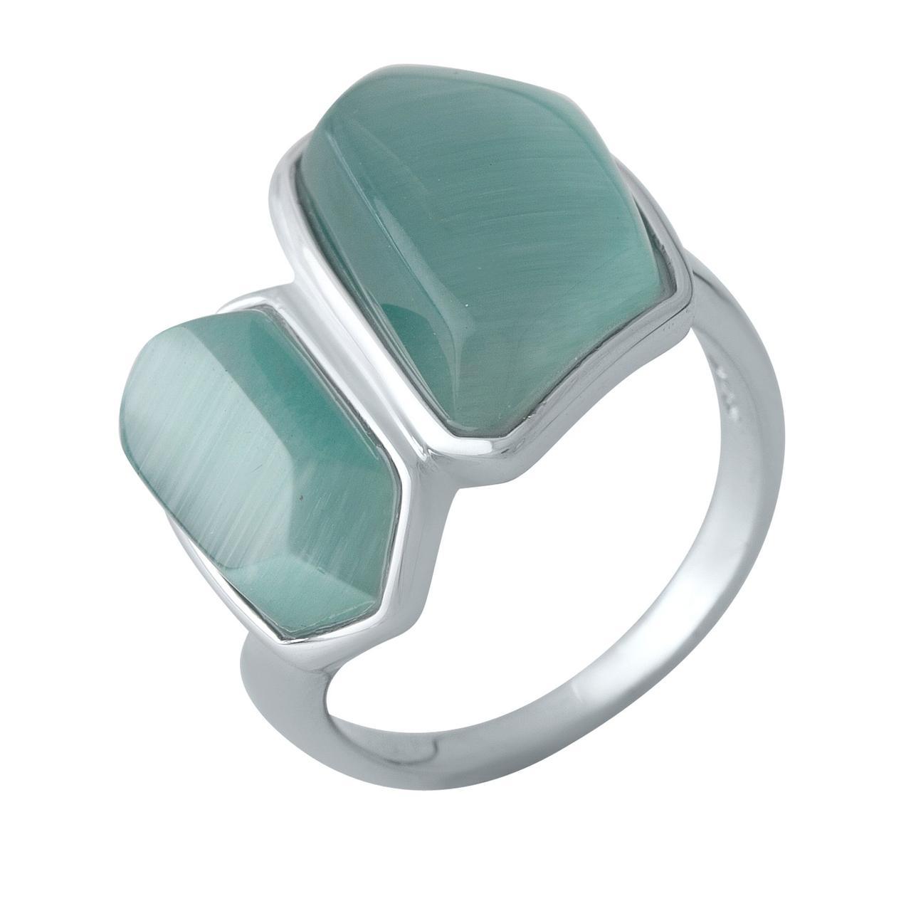 Серебряное кольцо DreamJewelry с кошачим глазом (2002703) 18 размер