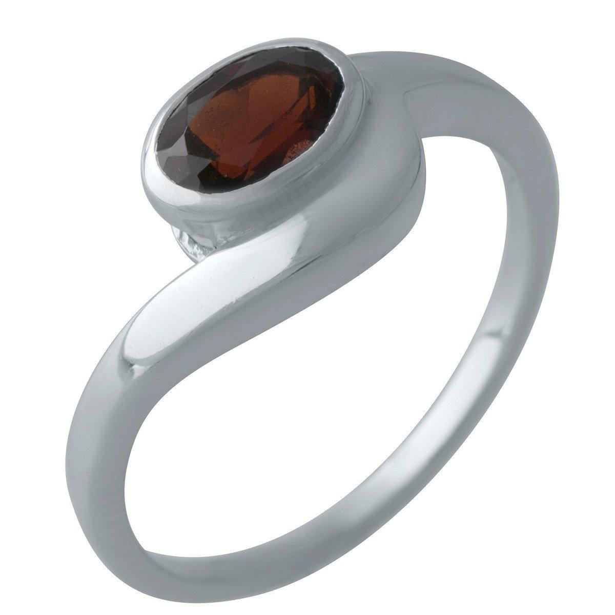 Серебряное кольцо DreamJewelry с натуральным гранатом (2002901) 18 размер