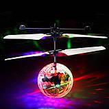 Летающая игрушка Flying Ball, шар вертолет, летающая игрушка, сенсорный летающий шар, светящийся шар, фото 2