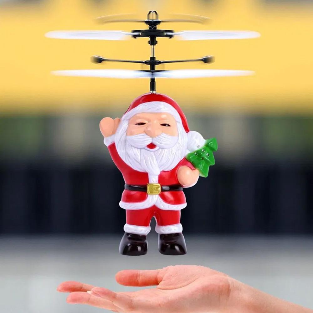 Летающая Игрушка Flying Santa Летающий Дед Мороз Cанта Клаус