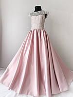 Нарядное платье для девочки 10 лет пудрового цвета, фото 1