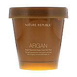Аргановая маска для волос NATURE REPUBLIC Argan Essential Deep Care Hair Pack, 200 мл, фото 2