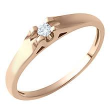 Золоте кільце DreamJewelry з натуральними діамантами (60000662) 18 розмір