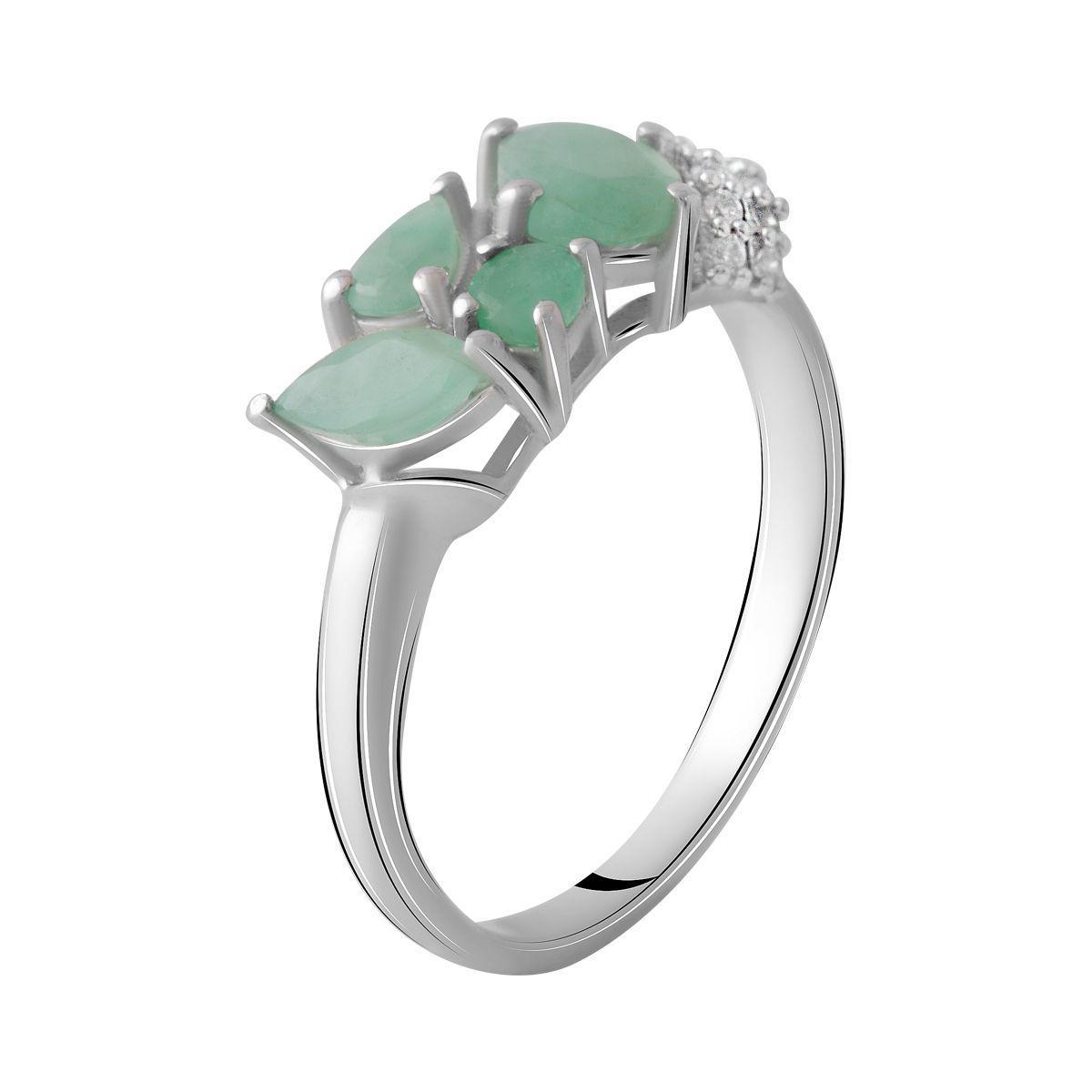 Серебряное кольцо DreamJewelry с натуральным изумрудом 1.404ct (2051404) 18 размер