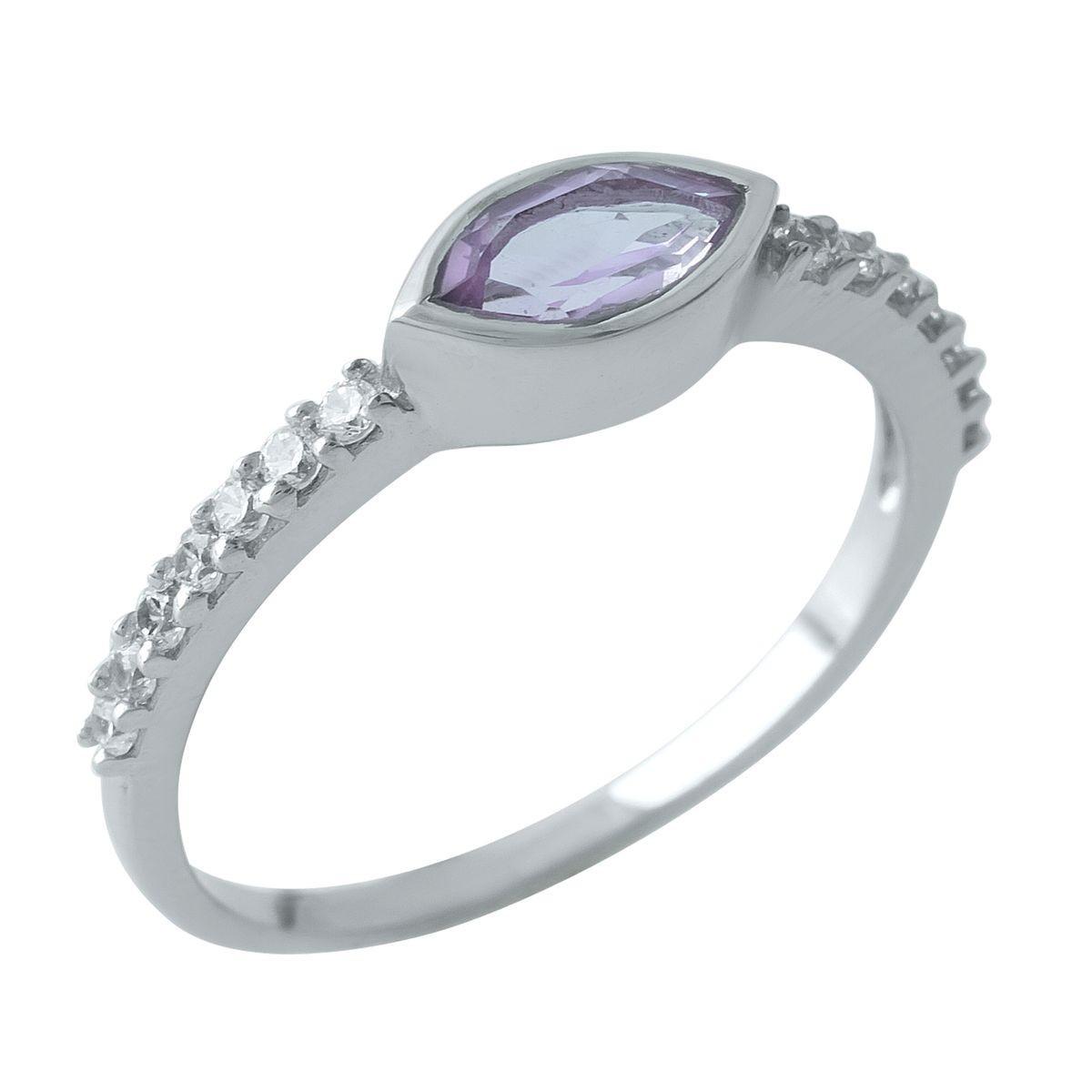 Серебряное кольцо DreamJewelry с натуральным аметистом (1970003) 17.5 размер