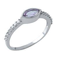 Серебряное кольцо DreamJewelry с натуральным аметистом (1970003) 17.5 размер, фото 1