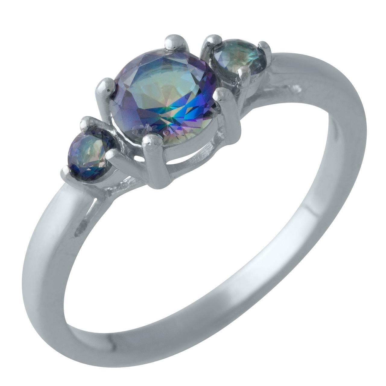 Серебряное кольцо DreamJewelry с натуральным мистик топазом (2005001) 18 размер