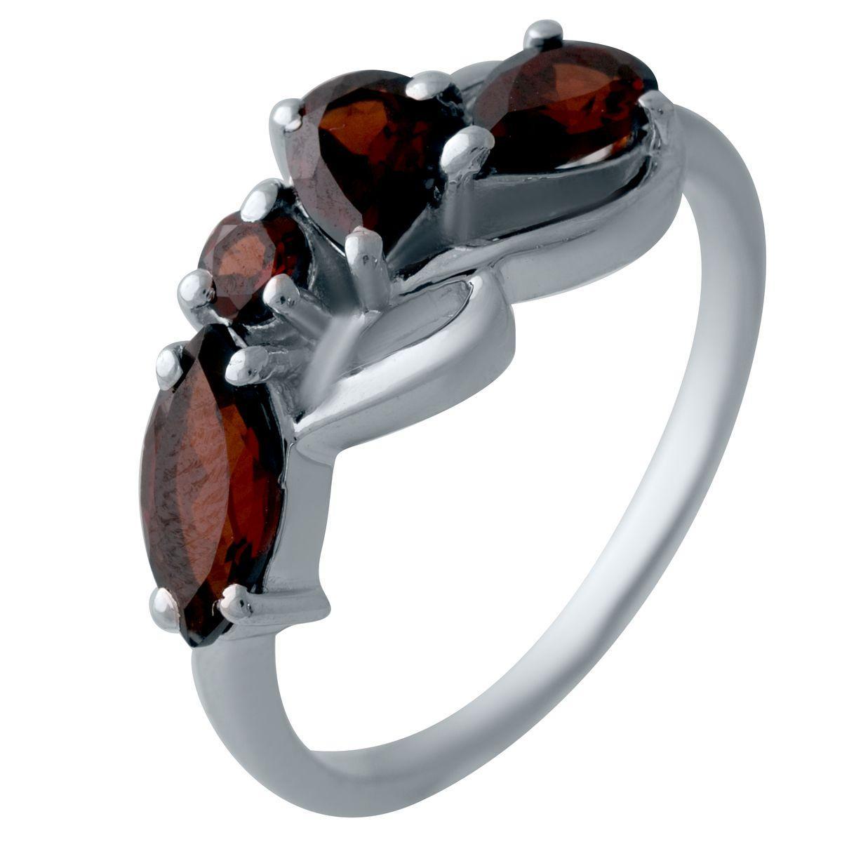 Серебряное кольцо DreamJewelry с натуральным гранатом (2024545) 18.5 размер