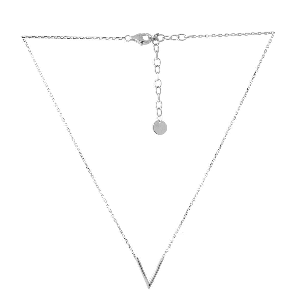 Серебряное колье DreamJewelry без камней (2052739) 440 размер