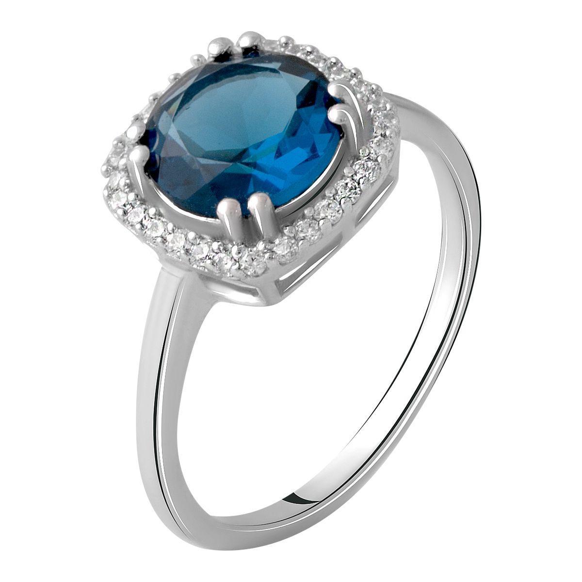 Серебряное кольцо DreamJewelry с натуральным топазом Лондон Блю 1.796ct (1970201) 17 размер