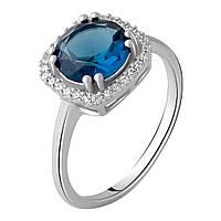 Серебряное кольцо DreamJewelry с натуральным топазом Лондон Блю 1.796ct (1970201) 17 размер, фото 1