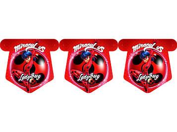 """Леди Баг"" - Флажки Красный, 12 флажков."