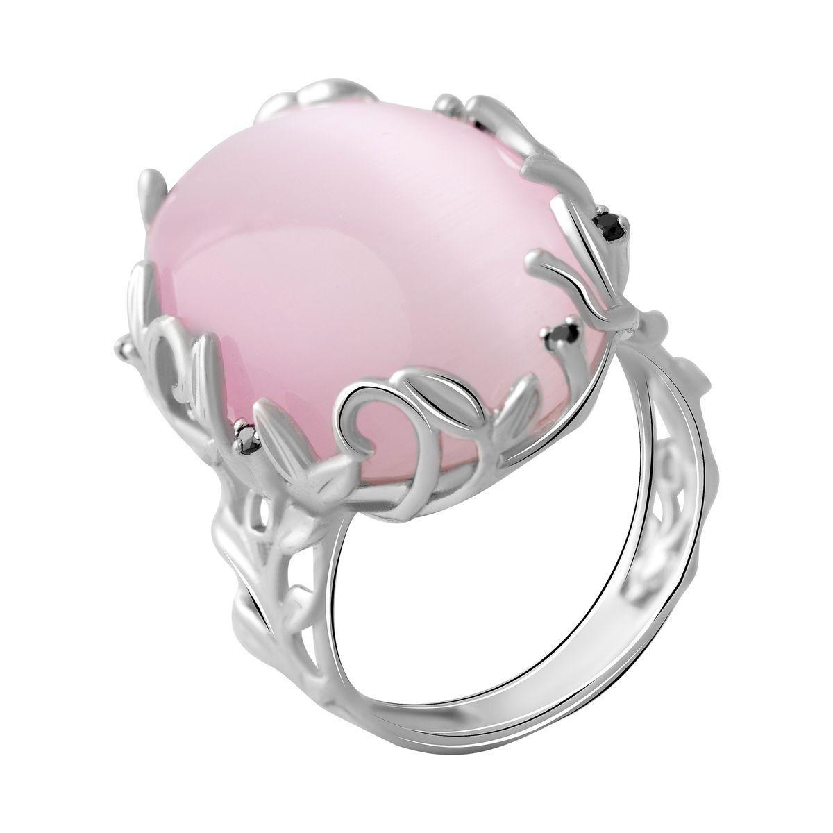 Серебряное кольцо DreamJewelry с кошачим глазом (2054276) 18 размер