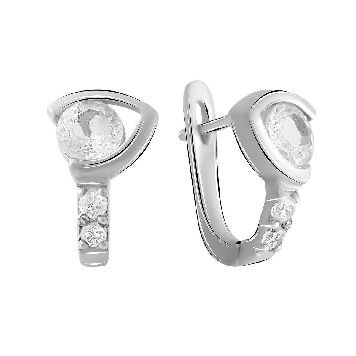 Серебряные серьги DreamJewelry с натуральным топазом (2056171)