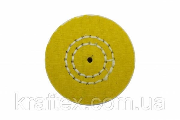 Круг муслиновый CROWN желтый d-60 мм, 50 слоев