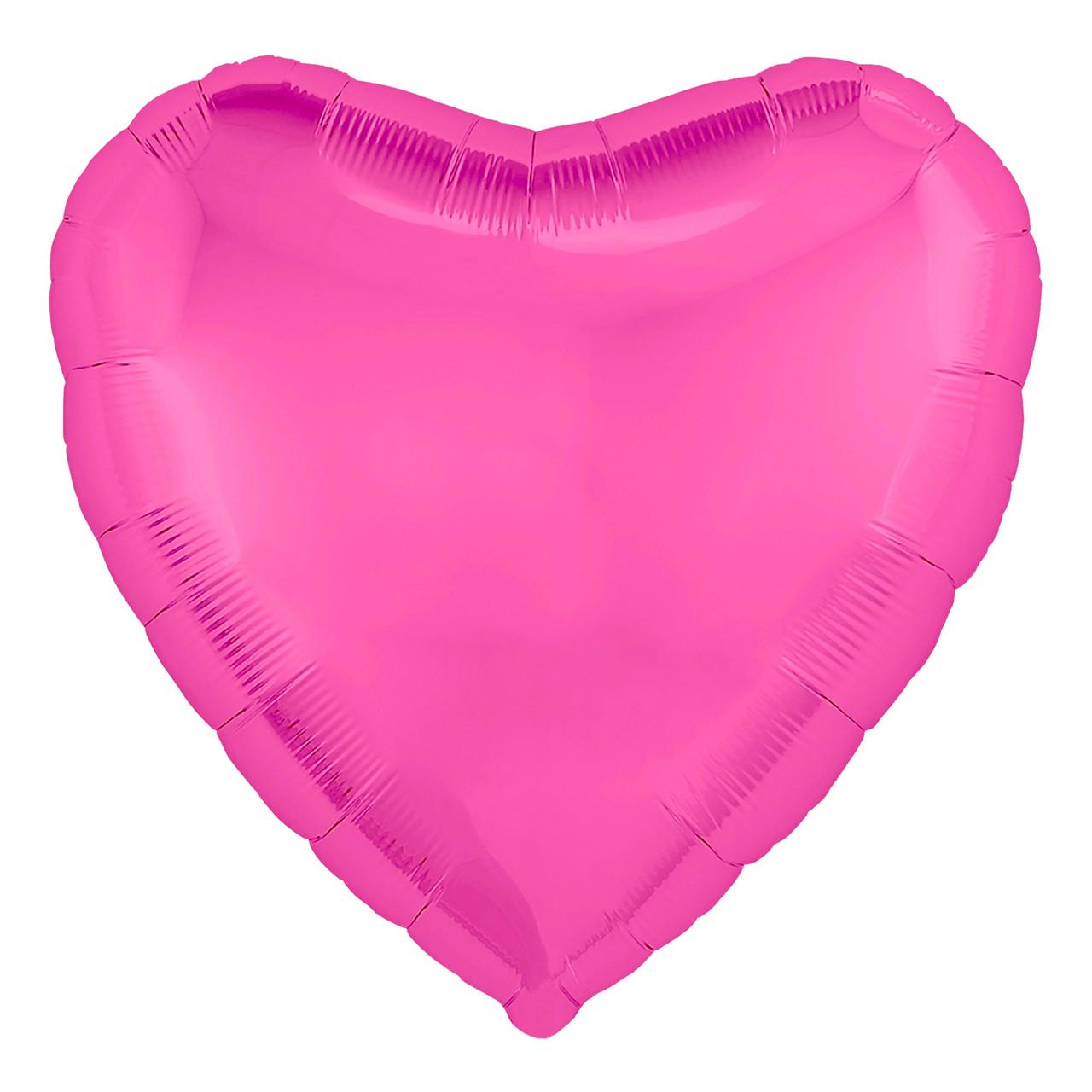 """Кулька 18"""" серце фольгована півонія ТМ """"Агура"""" однотонний шт."""