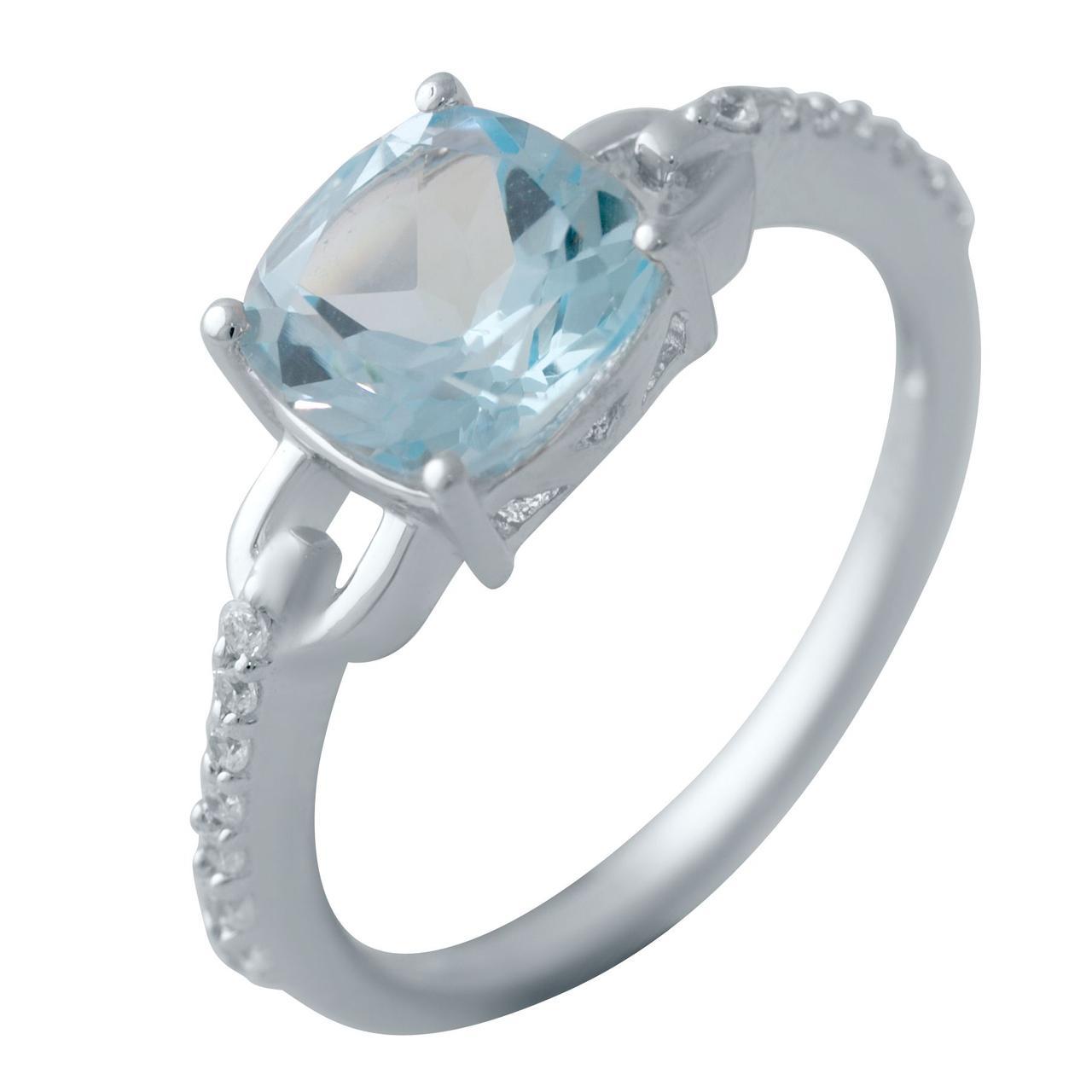 Серебряное кольцо DreamJewelry с натуральным топазом (2042549) 18 размер