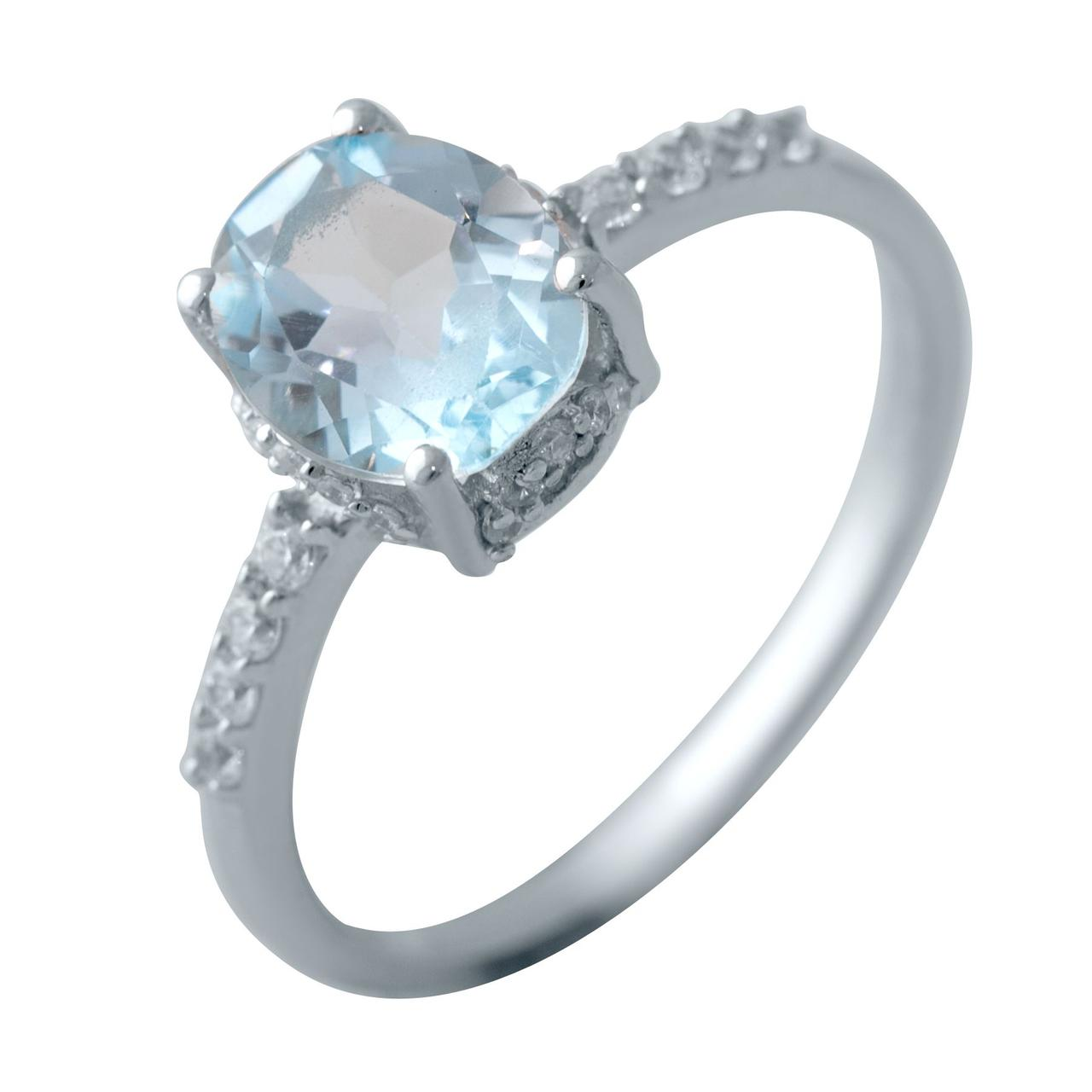 Серебряное кольцо DreamJewelry с натуральным топазом 2.18ct (2042808) 17 размер