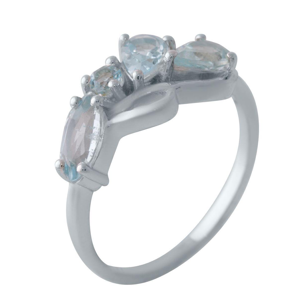 Серебряное кольцо DreamJewelry с натуральным топазом (2028338) 18 размер