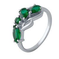 Серебряное кольцо DreamJewelry с изумрудом nano (2028567) 17.5 размер, фото 1