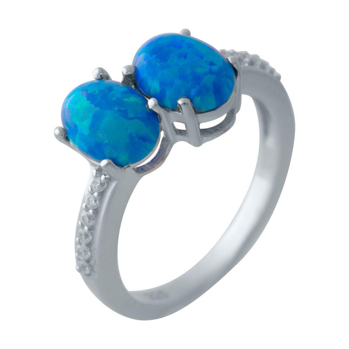 Серебряное кольцо DreamJewelry с опалом (2028932) 18 размер