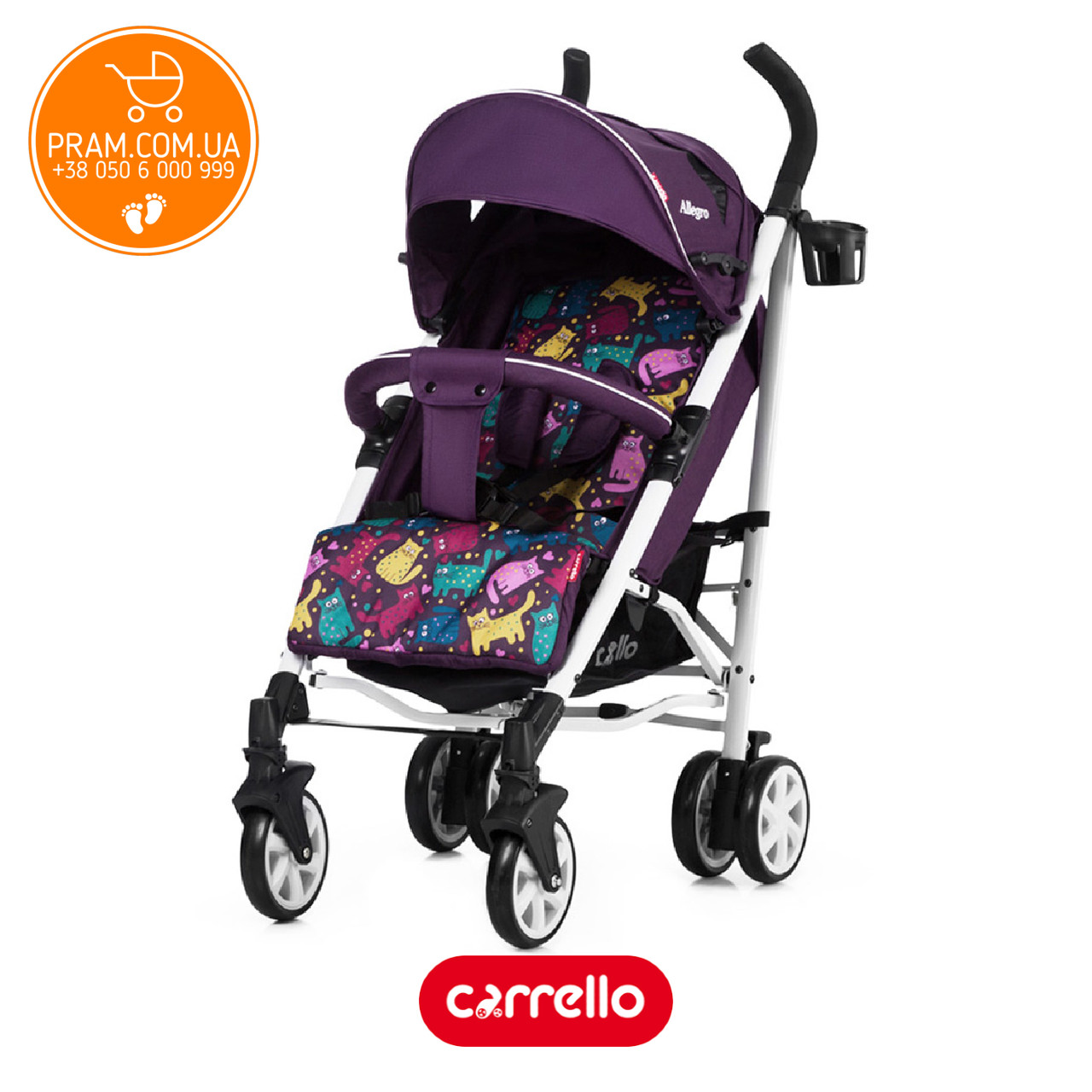 Прогулочная коляска Carrello Allegro Len CRL-10101 Kitty Purple