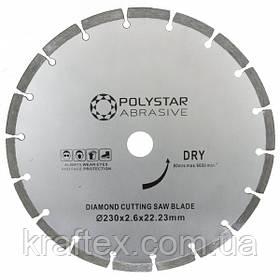 Круг алмазный отрезной  сегментний Polystar Abrasive d-230 мм
