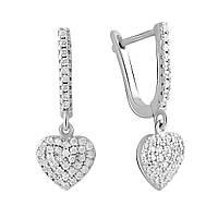 Серебряные серьги DreamJewelry с фианитами (2044321)
