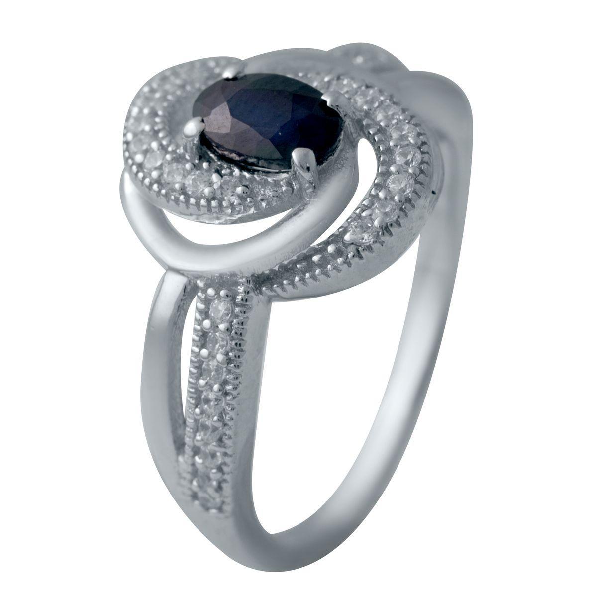 Серебряное кольцо DreamJewelry с натуральным сапфиром 0.881ct (2030218) 17 размер