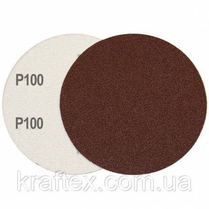Круг шлифовальный на липучке Velcro Polystar Abrasive 125 мм, P100, фото 2