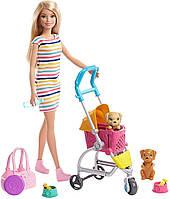 Лялька Барбі Прогулянка з цуценятами Barbie Stroll Play Pups Playset Blonde with Doll GHV92