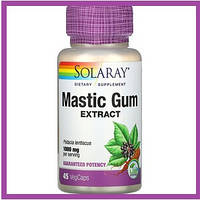 Экстракт мастиковой смолы, Mastic Gum Extract,  Solaray,  1000 мг, 45 вегетарианских капсул