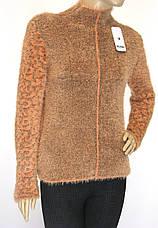 Жіноча тепла зимова кофта напівгольф, фото 3
