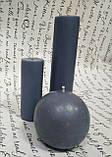 СВЕЧА цилиндр серая16см (диаметр 3,6см), фото 3