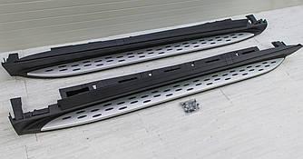 Подножки Mercedes GLE W166 пороги ступеньки площадки