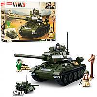 Конструктор SLUBAN Ввоенный, танк, фигурки, 686 элементов M38-B0689