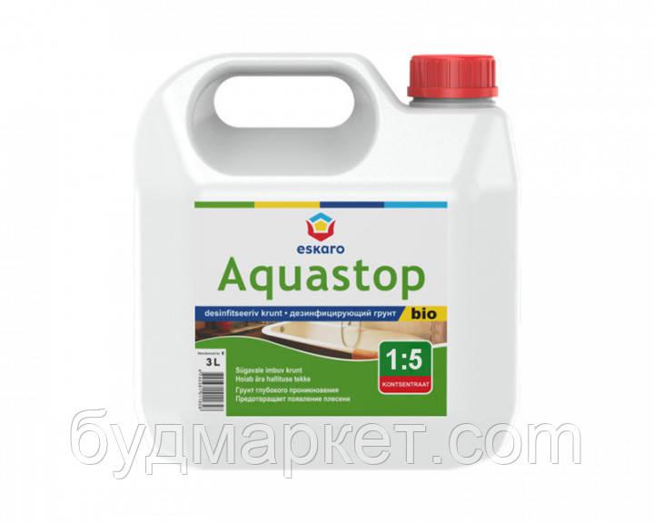 Грунт-концентрат ESKARO Aquastop Bio антиплесневая (1:5), 3 л