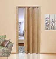 Двері гармошка Vinci Decor Світлий Дуб міжкімнатні глухі