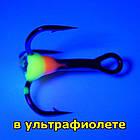 Крючок тройной балансирный с флуорисцентной каплей #10, фото 2
