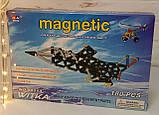 Магнитний конструктор 00113 180 деталей самолет  в кор-ке, 34,5*23,5*5 см, фото 3