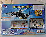 Магнитний конструктор 00113 180 деталей самолет  в кор-ке, 34,5*23,5*5 см, фото 2
