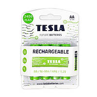 Аккумуляторы AA (HR6) Tesla Rechargeable 2400mAh (4шт.)