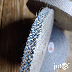 Упаковочная лента (джутовая) - 9 мм Синий