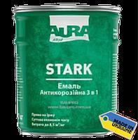 """Грунт-эмаль """"3 в1"""" AURA Stark антикоррозийная №20 (серебристая), 0,7 кг"""