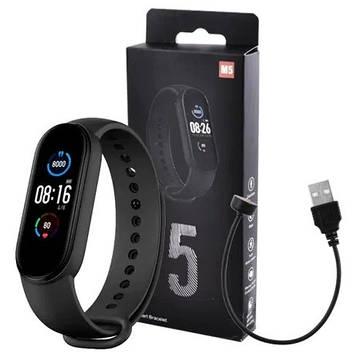 Фитнес браслет Smart Band M5 Mi Band Смарт часы черный.